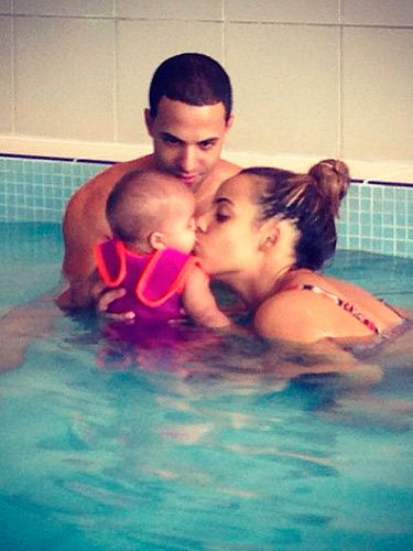 """<p>Marvin and Rochelle Humes made our hearts melt with this adorable picture of the couple taking their little girl, Alaia for an early morning swim. Rochelle captioned the snap: """"The best morning with my world"""" and we can totally understand why.</p>"""