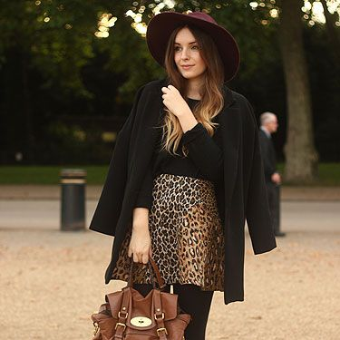 """<p>This is my AW13 staple look – an oversized boyfriend coat, a super-fluffy angora jumper, a 60s statement skirt and a trusty Mulberry.</p><p>Outfit: Coat – New Look, Angora Jumper – A