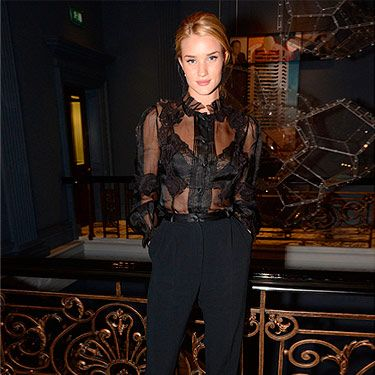 """<p>Not everyone can pull off a sheer blouse, but then again, not everyone is Rosie Huntington-Whiteley. At the launch for her luxe sleepwear range at M&S, Rosie gave a peek of what we can expect from the collection, showing off a lacy, black bra.</p><p><a href=""""http://www.cosmopolitan.co.uk/fashion/love/"""" target=""""_blank"""">VOTE ON CELEBRITY STYLE</a></p><p><a href=""""http://www.cosmopolitan.co.uk/fashion/shopping/new-in-store-14-oct"""" target=""""_blank"""">SHOP THIS WEEK'S BEST BUYS</a></p><p><a href=""""http://www.cosmopolitan.co.uk/fashion/celebrity/"""" target=""""_blank""""> SEE THE LATEST CELEBRITY TRENDS</a></p>"""