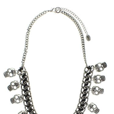 """<p>A bib necklace is an easy way to dress up a casual top in any instance, but when you add skulls into the mix? Seriously statement-making.</p><p>Statement skull bib necklace, <span class=""""st"""">£</span>10, <a href=""""http://www.claires.co.uk/statement-skull-bib-necklace/halloween-jewellery/shop/fcp-product/15370"""" target=""""_blank"""">Claire's</a></p><p><a href=""""http://www.cosmopolitan.co.uk/fashion/news/halloween-outfits?click=main_sr"""" target=""""_blank"""">EFFORTLESS HALLOWEEN OUTFITS FROM THE HIGH STREET</a></p><p><a href=""""http://www.cosmopolitan.co.uk/beauty-hair/beauty-tips/halloween-nails-tutorials-how-tos?click=main_sr"""" target=""""_blank"""">HOW TO DO HALLOWEEN NAILS</a></p><p><a href=""""http://www.cosmopolitan.co.uk/fashion/celebrity/celebrity-halloween-costumes?click=main_sr"""" target=""""_blank"""">10 BEST CELEBRITY HALLOWEEN COSTUMES</a></p>"""