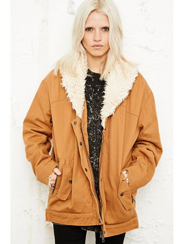 "<p>The mild autumn breeze will inevitably be turning into the icy, arctic winds we have come to know as the British winter. So wrap up in this rust-coloured sherpa jacket. Its oversized fit is relaxed and vintage, as well as being practical allowing you to wear a thick knit under for extra warmth!</p> <p>BDG Sherpa collar jacket, £98, <a href=""http://www.urbanoutfitters.co.uk/bdg-sherpa-collar-jacket-in-tan/invt/5133429690070"" target=""_blank"">Urban Outfitters</a></p> <p><a href=""http://www.cosmopolitan.co.uk/fashion/shopping/ten-winter-boots-under-fifty-pounds"" target=""_blank"">TOP TEN WINTER BOOTS FOR UNDER £50</a></p> <p><a href=""http://www.cosmopolitan.co.uk/fashion/shopping/halloween-outfits"" target=""_blank"">EFFORTLESS HALLOWEEN OUTFITS FROM THE HIGH STREET</a></p> <p><a href=""http://www.cosmopolitan.co.uk/fashion/shopping/celebrity-winter-coat-inspiration"" target=""_blank"">CELEBRITY WINTER COAT INSPIRATION</a></p> <p> </p>"