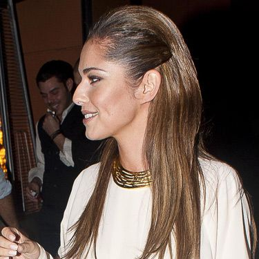 """<p>We'll let Cheryl Cole demonstrate perhaps the coolest hairstyle of the season: The straight 'n' sleek look with slick sides. Also seen on Lily Collins and <a href=""""http://www.cosmopolitan.co.uk/beauty-hair/news/styles/celebrity/lea-michele-wet-look-hair"""" target=""""_blank"""">Lea Michele</a>, this trend was born on the Victoria Beckham Spring/Summer 2013 catwalk and it's not going anywhere fast. The key thing here is """"sleek, not grease"""". Repeat and remember.</p>"""