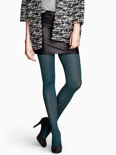 """<p>If you're not *quite* ready for an eye-catching colour like those from Forever 21, pick up this ladylike, matte style; it's perfect for the workday.</p> <p>80 denier tights in Petrol, £3.99, <a href=""""http://www.hm.com/gb/product/16023?article=16023-D"""" target=""""_blank"""">H&M</a></p> <p><a href=""""http://www.cosmopolitan.co.uk/fashion/shopping/office-party-dresses"""" target=""""_blank"""">THE OFFICE PARTY DRESS EDIT</a></p> <p><a href=""""http://www.cosmopolitan.co.uk/fashion/shopping/new-in-store-22-oct"""" target=""""_blank"""">NEW IN STORE THIS WEEK</a></p> <p><a href=""""http://www.cosmopolitan.co.uk/fashion/shopping/"""" target=""""_blank"""">SHOP THE LATEST FASHION LOOKS</a></p>"""