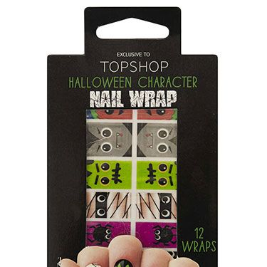 """<p>For those who just can't decide on a design, Topshop's got you covered&#x3B; each nail can be a different monster! </p><p>Halloween Nail Wraps - Multi, £6, <a href=""""http://www.topshop.com/en/tsuk/product/make-up-431/nails-473/halloween-nail-wraps-2287300?bi=1&ps=20"""" target=""""_blank"""">Topshop</a></p><p><a href=""""http://www.cosmopolitan.co.uk/fashion/news/halloween-outfits?click=main_sr"""" target=""""_blank"""">EFFORTLESS HALLOWEEN OUTFITS FROM THE HIGH STREET</a></p><p><a href=""""http://www.cosmopolitan.co.uk/beauty-hair/beauty-tips/halloween-nails-tutorials-how-tos?click=main_sr"""" target=""""_blank"""">HOW TO DO HALLOWEEN NAILS</a></p><p><a href=""""http://www.cosmopolitan.co.uk/fashion/celebrity/celebrity-halloween-costumes?click=main_sr"""" target=""""_blank"""">BEST CELEBRITY HALLOWEEN COSTUMES</a></p><p> </p>"""