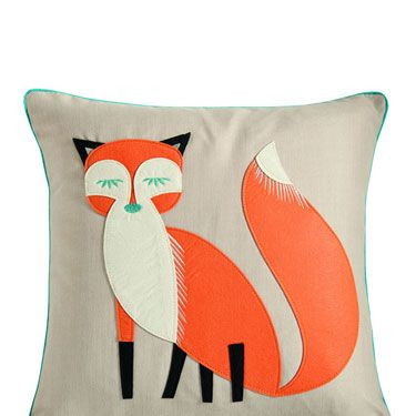 <p>Isn't he cute? Embracing the trend for all things Woodland, this lovely little cushion will add a little colour and flair to your sofa or bed.</p>