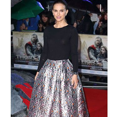 """<p>Natalie Portman was a vision in Dior at the world premiere of her new film Thor: The Dark World. The red carpet took place on Tuesday night&#x3B; and we're *still* dreaming about that metallic jaquard skirt...</p><p><a href=""""http://www.cosmopolitan.co.uk/fashion/love/"""" target=""""_blank"""">VOTE ON CELEBRITY STYLE</a></p><p><a href=""""http://www.cosmopolitan.co.uk/fashion/shopping/new-in-store-22-oct"""" target=""""_blank"""">SHOP THIS WEEK'S BEST BUYS</a></p><p><a href=""""http://www.cosmopolitan.co.uk/fashion/celebrity/"""" target=""""_blank"""">SEE THE LATEST CELEBRITY TRENDS</a></p><p> </p>"""