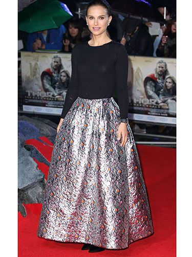 "<p>Natalie Portman was a vision in Dior at the world premiere of her new film Thor: The Dark World. The red carpet took place on Tuesday night; and we're *still* dreaming about that metallic jaquard skirt...</p> <p><a href=""http://www.cosmopolitan.co.uk/fashion/love/"" target=""_blank"">VOTE ON CELEBRITY STYLE</a></p> <p><a href=""http://www.cosmopolitan.co.uk/fashion/shopping/new-in-store-22-oct"" target=""_blank"">SHOP THIS WEEK'S BEST BUYS</a></p> <p><a href=""http://www.cosmopolitan.co.uk/fashion/celebrity/"" target=""_blank"">SEE THE LATEST CELEBRITY TRENDS</a></p> <p> </p>"