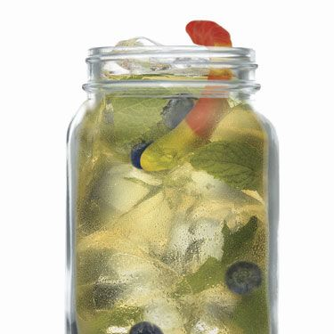 <p>A delicious drink with a few spooky treats…<br /><br /><strong>Ingredients:</strong><br />½ parts Malibu<br />10-12 fresh mint leaves<br />1 tbsp. brown sugar<br />1 part lime juice<br />2 parts soda<br />½ part cola<br />10 blueberries<br /><br /><strong>Method:</strong><br />Muddle sugar, mint and lime juice in bottom of a Mason jar. Add crushed ice to two thirds of glass, add Malibu, soda water, cola and blueberries. Garnish with gummy worms.</p>