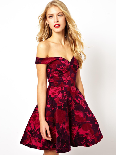 "<p>Why, hel-lo party dress of dreams! This scarlet frock is super sexy (shoulders are SO the new boobs) and will stand out among the LBD clones. But it immediately before it diappears forever.</p> <p>Velvet floral Bardot skater dress, £55, <a href=""http://www.asos.com/ASOS/ASOS-Velvet-Floral-Bardot-Skater-Dress/Prod/pgeproduct.aspx?iid=3301841"" target=""_blank"">asos.com</a></p> <p><a href=""http://www.cosmopolitan.co.uk/fashion/shopping/ten-winter-boots-under-fifty-pounds"" target=""_blank"">TOP TEN WINTER BOOTS FOR UNDER £50</a></p> <p><a href=""http://www.cosmopolitan.co.uk/fashion/shopping/easy-halloween-outfits-2013"" target=""_blank"">HAUTE HALLOWEEN: 13 SPOOKY STYLES FOR UNDER £25</a></p> <p><a href=""http://www.cosmopolitan.co.uk/fashion/shopping/womens-clothing-under-ten-pounds"" target=""_blank"">DAILY FASHION FIX: SHOP BARGAIN BUYS FOR £10 OR LESS</a></p>"