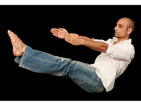 """<p>This exercise stimulates the 'Manipura Chakra' (Fire Centre in yoga)which relates to the sun! Regular practice will help fire up the digestion, generating heat throughout the entire body, helping fight off nasty colds and leaving you with fab abs this fall!</p> <p>1. Sit on the ground and draw your knees up towards your chest.<br /><br />2. Wrap your arms around the back of your thighs and lift your feet off the ground so your calves are parallel to the floor. Balance on your backside for a few moments. <br /><br />3. Now tighten your abs and start to release your legs out to the front slowly and only far as you feel comfortable with. Be careful not to do it too fast or hard the first time, it's tougher than it looks! <br /><br />Try three rounds of this, extending the limbs a little more each time. Hold each repetition for about 10 seconds or more if you're comfortable.</p> <p><em>Neil Patel of Chi Kri yoga is running a one-day yoga retreat on 10th November 2013. To find out more and book your place visit <a href=""""http://www.chikri.com/newsandeventsdetail.php?newsId=32"""" target=""""_blank"""">chikri.com</a>.</em></p> <p><a href=""""http://cosmopolitan.co.uk/diet-fitness/fitness/benefits-of-yoga-and-myths-busted?click=main_sr"""">Busting the yoga myths</a></p> <p><a href=""""http://cosmopolitan.co.uk/diet-fitness/fitness/yoga-pilates-difference-calories?click=main_sr"""">Yoga and pilates explained</a></p> <p><a href=""""http://www.cosmopolitan.co.uk/diet-fitness/"""" target=""""_blank"""">More health and body news</a></p>"""