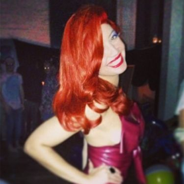 """<p>Sexy model Daisy Lowe channels her inner Jessica Rabbit as she dresses up for a party, complete with bright orange wig. We love!</p><p><a href=""""http://www.cosmopolitan.co.uk/beauty-hair/news/styles/celebrity/cosmo-hairstyle-of-the-day"""" target=""""_blank"""">HAIRSTYLE OF THE DAY</a></p><p><a href=""""http://www.cosmopolitan.co.uk/beauty-hair/news/hairstyles/wig-hair-trend-2013-14"""" target=""""_blank"""">WHY WIGS ARE THE NEW HAIR TREND</a></p><p><a href=""""http://www.cosmopolitan.co.uk/beauty-hair/news/trends/celebrity-beauty/georgia-may-jagger-instagram-cara-delevingne"""" target=""""_blank"""">THE NEW WIG TREND AT FASHION WEEK</a></p>"""