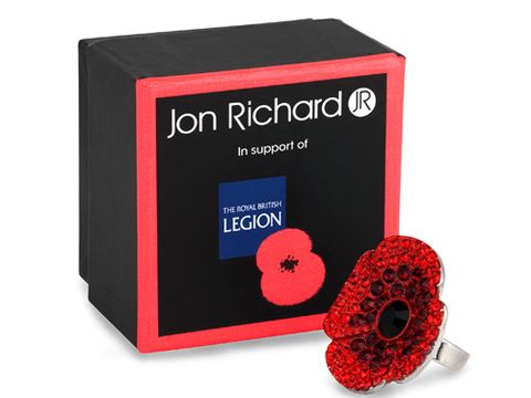 """<p>Why not try something a little different, like this gorgeous red poppy ring from Jon Richard?</p> <p>Crystal poppy cocktail ring, £12, <a href=""""http://www.jonrichard.com/rings-c16/jon-richard-the-royal-british-legion-crystal-poppy-ring-p12773"""" target=""""_blank"""">jonrichard.com</a></p> <p>(£3.60 from each sale goes to The Royal British Legion)</p> <p><a href=""""http://www.cosmopolitan.co.uk/fashion/shopping/the-fashion-fix-shop-bargain-buys"""" target=""""_blank"""">SHOP DAILY FASHION FINDS FOR £10 OR LESS!</a></p> <p><a href=""""http://www.cosmopolitan.co.uk/fashion/shopping/shop-payday-fashion-treats"""" target=""""_blank"""">WHAT TO BUY ON PAYDAY</a></p> <p><a href=""""http://www.cosmopolitan.co.uk/fashion/news/"""" target=""""_blank"""">SEE THE LATEST FASHION NEWS</a></p>"""