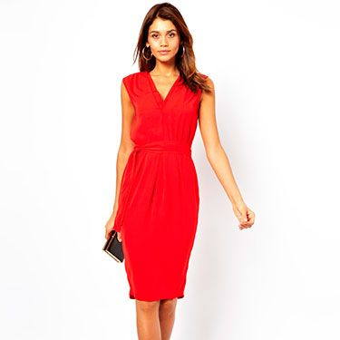 """<p>This is the perfect day to night transition dress - smart enough for the office, sexy enough for a party. The double v-neck and cinched in waist is flattering for all body types, whilst the midi length is bang on trend. Pair with killer black heels in the evening for office party glamour!</p><p>Midi dress with double v-neck, £40, <a href=""""http://www.asos.com/ASOS/ASOS-Midi-Dress-With-Double-V-Neck/Prod/pgeproduct.aspx?iid=3073422&cid=8799&Rf-200=1&sh=0&pge=0&pgesize=204&sort=-1&clr=Red"""" target=""""_blank"""">ASOS</a></p><p><a href=""""http://www.cosmopolitan.co.uk/fashion/shopping/office-party-dresses"""" target=""""_blank"""">THE OFFICE PARTY LITTLE BLACK DRESS EDIT</a></p><p><a href=""""http://www.cosmopolitan.co.uk/fashion/shopping/what-to-wear-this-week-28-october-2013"""" target=""""_blank"""">WHAT TO WEAR THIS WEEK </a></p><p><a href=""""http://www.cosmopolitan.co.uk/fashion/shopping/ten-winter-boots-under-fifty-pounds"""" target=""""_blank"""">TOP TEN WINTER BOOTS UNDER £50</a></p>"""