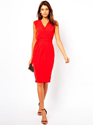 "<p>This is the perfect day to night transition dress - smart enough for the office, sexy enough for a party. The double v-neck and cinched in waist is flattering for all body types, whilst the midi length is bang on trend. Pair with killer black heels in the evening for office party glamour!</p> <p>Midi dress with double v-neck, £40, <a href=""http://www.asos.com/ASOS/ASOS-Midi-Dress-With-Double-V-Neck/Prod/pgeproduct.aspx?iid=3073422&cid=8799&Rf-200=1&sh=0&pge=0&pgesize=204&sort=-1&clr=Red"" target=""_blank"">ASOS</a></p> <p><a href=""http://www.cosmopolitan.co.uk/fashion/shopping/office-party-dresses"" target=""_blank"">THE OFFICE PARTY LITTLE BLACK DRESS EDIT</a></p> <p><a href=""http://www.cosmopolitan.co.uk/fashion/shopping/what-to-wear-this-week-28-october-2013"" target=""_blank"">WHAT TO WEAR THIS WEEK </a></p> <p><a href=""http://www.cosmopolitan.co.uk/fashion/shopping/ten-winter-boots-under-fifty-pounds"" target=""_blank"">TOP TEN WINTER BOOTS UNDER £50</a></p>"
