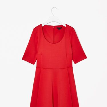"""<p>We love the pleats and scoop-neck detail on this simple dress from Cos, a label famed for its Scandi masculine-feminine chic.</p><p>Pleated scuba dress, £69, <a href=""""http://www.cosstores.com/Shop/Women/Dresses/Pleated_scuba_dress/46881-10508137.1#"""" target=""""_blank"""">Cos</a></p><p><a href=""""http://www.cosmopolitan.co.uk/fashion/shopping/office-party-dresses"""" target=""""_blank"""">THE OFFICE PARTY LITTLE BLACK DRESS EDIT</a></p><p><a href=""""http://www.cosmopolitan.co.uk/fashion/shopping/what-to-wear-this-week-28-october-2013"""" target=""""_blank"""">WHAT TO WEAR THIS WEEK </a></p><p><a href=""""http://www.cosmopolitan.co.uk/fashion/shopping/ten-winter-boots-under-fifty-pounds"""" target=""""_blank"""">TOP TEN WINTER BOOTS UNDER £50</a></p>"""