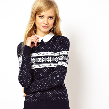 """<p>A preppy take on the perennial Christmas jumper. Team with a tartan skirt and patent loafers.</p><p>Snowflake Christmas jumper with collar, £35, <a href=""""http://www.asos.com/ASOS/ASOS-Christmas-Jumper-In-Snowflake-Pattern-With-Collar/Prod/pgeproduct.aspx?iid=3422626&cid=2637&sh=0&pge=0&pgesize=204&sort=-1&clr=Navy"""" target=""""_blank"""">asos.com</a></p><p><a href=""""http://www.cosmopolitan.co.uk/fashion/shopping/christmas-jumpers-2013-primark-womens"""" target=""""_blank"""">PRIMARK'S CHRISTMAS JUMPERS ARE HERE!</a></p><p><a href=""""http://www.cosmopolitan.co.uk/fashion/shopping/fluffy-jumpers-winter-fashion-trend"""" target=""""_blank"""">FIVE OF THE BEST FLUFFY JUMPERS</a></p><p><a href=""""http://www.cosmopolitan.co.uk/fashion/shopping/investment-winter-coats"""" target=""""_blank"""">10 WINTER COATS WORTH INVESTING IN</a></p>"""