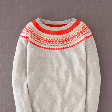"""<p>For a fresh new take on the festive knit, just add a flash of fluro.</p><p>Fair Isle yoke jumper, £79, <a href=""""http://www.boden.co.uk/en-GB/Womens-Knitwear/Jumpers/WK868/Womens-Fair-Isle-Yoke-Jumper.html"""" target=""""_blank"""">boden.co.uk</a></p><p><a href=""""http://www.cosmopolitan.co.uk/fashion/shopping/christmas-jumpers-2013-primark-womens"""" target=""""_blank"""">PRIMARK'S CHRISTMAS JUMPERS ARE HERE!</a></p><p><a href=""""http://www.cosmopolitan.co.uk/fashion/shopping/fluffy-jumpers-winter-fashion-trend"""" target=""""_blank"""">FIVE OF THE BEST FLUFFY JUMPERS</a></p><p><a href=""""http://www.cosmopolitan.co.uk/fashion/shopping/investment-winter-coats"""" target=""""_blank"""">10 WINTER COATS WORTH INVESTING IN</a></p>"""