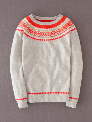 """<p>For a fresh new take on the festive knit, just add a flash of fluro.</p> <p>Fair Isle yoke jumper, £79, <a href=""""http://www.boden.co.uk/en-GB/Womens-Knitwear/Jumpers/WK868/Womens-Fair-Isle-Yoke-Jumper.html"""" target=""""_blank"""">boden.co.uk</a></p> <p><a href=""""http://www.cosmopolitan.co.uk/fashion/shopping/christmas-jumpers-2013-primark-womens"""" target=""""_blank"""">PRIMARK'S CHRISTMAS JUMPERS ARE HERE!</a></p> <p><a href=""""http://www.cosmopolitan.co.uk/fashion/shopping/fluffy-jumpers-winter-fashion-trend"""" target=""""_blank"""">FIVE OF THE BEST FLUFFY JUMPERS</a></p> <p><a href=""""http://www.cosmopolitan.co.uk/fashion/shopping/investment-winter-coats"""" target=""""_blank"""">10 WINTER COATS WORTH INVESTING IN</a></p>"""
