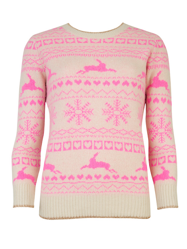 """<p>This combo of Fair Isle in winter pastels is just dreamy, don't you think? The prettiest way to do a festive knit.</p> <p>Ted Baker Maysi Fair Isle Jumper, £99, <a href=""""http://www.johnlewis.com/ted-baker-maysi-fairisle-jumper/p764586?kpid=232564911"""" target=""""_blank"""">johnlewis.com</a></p> <p><a href=""""http://www.cosmopolitan.co.uk/fashion/shopping/christmas-jumpers-2013-primark-womens"""" target=""""_blank"""">PRIMARK'S CHRISTMAS JUMPERS ARE HERE!</a></p> <p><a href=""""http://www.cosmopolitan.co.uk/fashion/shopping/fluffy-jumpers-winter-fashion-trend"""" target=""""_blank"""">FIVE OF THE BEST FLUFFY JUMPERS</a></p> <p><a href=""""http://www.cosmopolitan.co.uk/fashion/shopping/investment-winter-coats"""" target=""""_blank"""">10 WINTER COATS WORTH INVESTING IN</a></p>"""