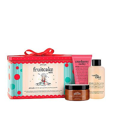 <p>Give your mum a little treat with this adorable Philosophy set. <br /><br />With drool-worthy scents like cranberry, vnailla and pecan, the products that leave the skin super soft and smelling absolutely delicious.<br /><br />Some extra sweetness for when you can't possibly fit any more cake in.</p>