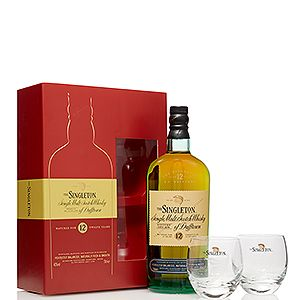 <p>The Singleton of Dufftown 12 Year Old whisky and branded glassware pack is a real treat for any whisky fan. And there's two chunky based tumblers to help the 12 year old whisky go down even smoother.</p>