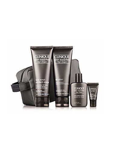 "<p>Give Dad a boost with his skin care thanks to this fab set from Clinique that includes a cooling eye gel to revitalize tired-looking eyes.</p> <p>Clinique Great Skin for Him set, £30, <a href=""http://www.clinique.co.uk/product/11599/27466/Holiday13/Gift-Sets/Great-Skin-for-Him/index.tmpl"" target=""_blank"">clinique.co.uk</a></p>"