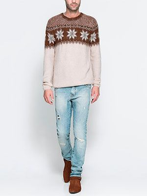 "<p>However much you try to get your new man to wear matching Christmas jumpers, sometimes it just doesn't work. Ease him into the Christmas jumper feeling with this mohair knit. He'll think it's come from exotic South American country and feel like a winter traveller. Plus it's pretty cute!</p> <p>Jacquard sweater, £45.99, <a href=""http://www.zara.com/uk/en/man/knitwear/jacquard-sweater-c269238p1327830.html"" target=""_blank"">Zara</a></p> <p><a href=""http://www.cosmopolitan.co.uk/fashion/shopping/cosmo-new-boyfriend-gift-guide-giveaway?click=main_sr#fbIndex1"" target=""_blank"">COSMO'S 2012 NEW BOYFRIEND GIFT GUIDE</a></p> <p><a href=""http://www.cosmopolitan.co.uk/fashion/shopping/long-term-boyfriend-christmas-gift-guide-2013"" target=""_blank"">LONG TERM BOYFRIEND CHRISTMAS GIFT GUIDE</a></p> <p><a href=""http://www.cosmopolitan.co.uk/love-sex/tips/sexy-christmas-2013"" target=""_blank"">SEXY CHRISTMAS GIFT GUIDE</a></p>"