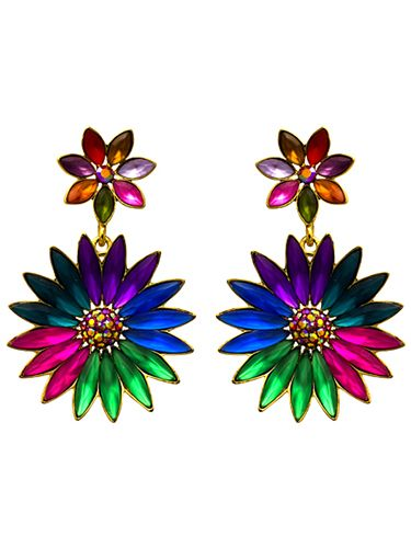 <p>Bold, bright and beautiful, these earrings prove that florals are anything but twee.</p>