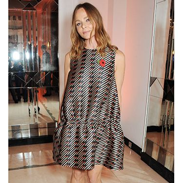 """<p>Stella McCartney, who presented an award at the event, showed off one of her own designs.</p><p><a href=""""http://www.cosmopolitan.co.uk/fashion/celebrity/best-dressed-celebrities-LACMA-2013?click=main_sr"""" target=""""_blank"""">HOLLYWOOD'S LEADING LADIES DAZZLE AT THE LACMA GALA</a></p><p><a href=""""http://www.cosmopolitan.co.uk/fashion/shopping/christmas-party-dresses-investment"""" target=""""_blank"""">10 DREAMY PARTY DRESSES</a></p><p><a href=""""http://www.cosmopolitan.co.uk/fashion/shopping/office-party-red-dress"""" target=""""_blank"""">THE RED DRESS EDIT</a></p>"""