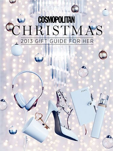"<p>This issue brings with it a free 56-page gift guide supplement to sate all your Christmas shopping needs. You needn't traipse around the department stores and crowded London streets in the rain this Christmas, because Cosmo has picked all the best gifts for you!</p> <p><a href=""http://www.cosmopolitan.co.uk/celebs/entertainment/miley-cyrus-cosmopolitan-cover-2013"" target=""_blank"">READ MILEY CYRUS'S DECEMBER ISSUE INTERVIEW</a></p>"