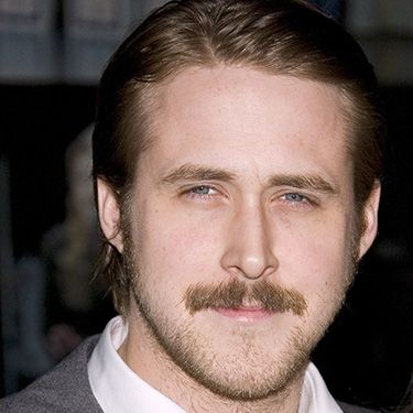 <p>Ryan wore a moustache while filming his 2007 flick, Lars and the Real Girl, and at the New York Film Critics' Circle Awards in January of that year. Looking good, Gosling.</p>