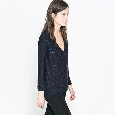 """<p>If you're looking for a subtle way to inject a bit of sparkle into your wardrobe then this sequin jumper from Zara is the perfect way. Pair with black jeans and leather ankle boots for a tough yet glam look.</p><p>Sequinned sweater, £45.99, <a href=""""http://www.zara.com/uk/en/new-this-week/woman/sequinned-sweater-c287002p1368039.html"""" target=""""_blank"""">Zara</a></p><p><a href=""""http://www.cosmopolitan.co.uk/fashion/shopping/christmas-party-dresses-investment"""" target=""""_blank"""">COSMO'S TOP TEN DREAMY PARTY DRESSES</a></p><p><a href=""""http://www.cosmopolitan.co.uk/fashion/shopping/j-crew-uk-store"""" target=""""_blank"""">JOIN THE J-CREW</a></p><p><a href=""""http://www.cosmopolitan.co.uk/fashion/shopping/celebrity-winter-coat-inspiration"""" target=""""_blank"""">WINTER COAT INSPIRATION </a><br /><br /></p>"""