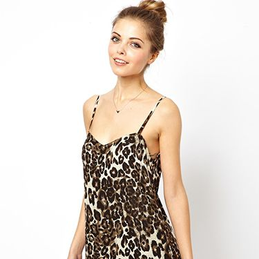 <p>We love a bit of leopard print in our lives, and this cute little dress would look great dressed up with a gold belt and sexy heels. </p>