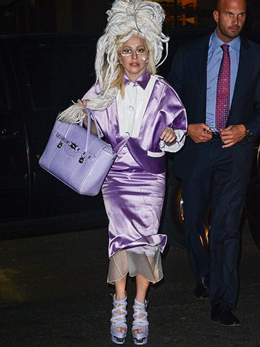"<p>Isn't this what you would wear to SNL rehearsals? Lady Gaga looked lovely (er, sort of) in lavender and a dreadlock wig on her way to the show's studio.</p> <p><a href=""http://www.cosmopolitan.co.uk/celebs/entertainment/lady-gaga-marijuana-addiction"" target=""_blank"">LADY GAGA TALKS ADDICTION</a></p> <p><a href=""http://www.cosmopolitan.co.uk/celebs/entertainment/lady-gaga-naked-gay-nightclub?click=main_sr"" target=""_blank"">LADY GAGA GETS COMPLETELY NAKED AT G-A-Y NIGHTCLUB</a></p> <p><a href=""http://www.cosmopolitan.co.uk/celebs/celebrity-gossip/lady-gaga-neck-tattoo-rio?click=main_sr"" target=""_blank"">GAGA SHOWS OFF BRAND NEW NECK TATTOO</a></p>"
