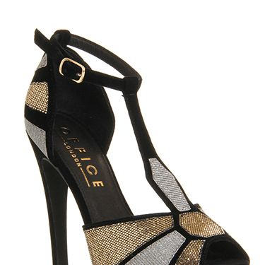 """<p>With a hint of Art Deco and a whole heap of glitter, these statement heels are designed for stomping with style. Wear with an on-trend leather pencil skirt and shimmery top to win in the festive fashion stakes. </p><p>Multi velvet glitter shoes, £60, <a href=""""christmas%20party%20shoes%20office%20heels"""" target=""""_blank"""">office.co.uk</a></p><p><a href=""""http://www.cosmopolitan.co.uk/fashion/shopping/christmas-party-accessories-jewellery-bags"""" target=""""_blank"""">OUR FAVOURITE PARTY ACCESSORIES</a></p><p><a href=""""http://www.cosmopolitan.co.uk/fashion/shopping/cheap-christmas-party-dresses"""" target=""""_blank"""">PARTY DRESSES FOR UNDER £25</a></p><p><a href=""""http://www.cosmopolitan.co.uk/fashion/shopping/womens-christmas-fair-isle-jumpers-2013"""" target=""""_blank"""">NINE NIFTY KNITS</a></p>"""