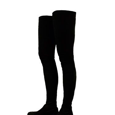 """<p>The <a href=""""http://www.cosmopolitan.co.uk/fashion/news/what-s-hot-now-thigh-high-boots-miley-cyrus-kate-moss-louboutin"""" target=""""_blank"""">thigh-high boot</a> reaches new limits in these black suede ones from KG by Kurt Geiger. No need to wear tights with these babies - it's unlikely you'd be able to fit anything underneath these second-skin boots. A mini knitted jumper dress is all you need.</p><p>Flat thigh high boots, £250, KG by <a href=""""http://www.kurtgeiger.com/women/shoes/boots/vesper-black-suede-41-kg-kurt-geiger-shoe.html"""" target=""""_blank"""">Kurt Geiger</a></p><p><a href=""""http://www.cosmopolitan.co.uk/fashion/how-to-wear-polo-necks"""" target=""""_blank"""">COSMO'S HOW TO WEAR POLO NECKS GUIDE</a></p><p><a href=""""http://www.cosmopolitan.co.uk/fashion/shopping/winter-wardrobe-essentials"""" target=""""_blank"""">TOP TEN WINTER WARDROBE ESSENTIALS</a></p><p><a href=""""http://www.cosmopolitan.co.uk/fashion/shopping/new-in-store-11-november"""" target=""""_blank"""">NEW IN STORE THIS WEEK</a></p><p> </p>"""