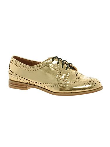 "<p>We're rather partial to a brogue, and while definitely not for wallflowers, these golden lace-ups are certainly festive. </p> <p>Murphy brogues, £45, <a href=""http://www.asos.com/ASOS/ASOS-MURPHY-Brogues/Prod/pgeproduct.aspx?iid=3177268&cid=6459&sh=0&pge=0&pgesize=204&sort=-1&clr=Gold"" target=""_blank"">asos.com</a></p> <p><a href=""http://www.cosmopolitan.co.uk/fashion/shopping/christmas-party-high-heel-shoes"" target=""_blank"">THE BEST CHRISTMAS PARTY HEELS</a></p> <p><a href=""http://www.cosmopolitan.co.uk/fashion/shopping/christmas-party-accessories-jewellery-bags"" target=""_blank"">AMAZING PARTY ACCESSORIES</a></p> <p><a href=""http://www.cosmopolitan.co.uk/fashion/shopping/cheap-christmas-party-dresses"" target=""_blank"">BARGAIN DRESSES FOR THE FESTIVE SEASON</a></p>"