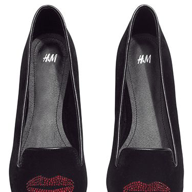 <p>If you're such a big fan of red lipstick that just having it on your face won't do, why not pick up these cool loafers for, y'know, loafing about in. </p>