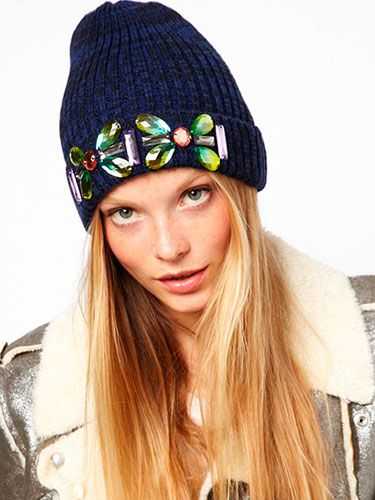 "<p>If you prefer your headwear to be a tad more feminine, rock the embellished look with this beanie.<br /><br />Embellished turn up beanie, £12, <a href=""http://www.asos.com/ASOS/ASOS-Embellished-Turn-Up-Beanie/Prod/pgeproduct.aspx?iid=3032997&cid=6449&sh=0&pge=0&pgesize=204&sort=-1&clr=Navy"" target=""_blank"">ASOS</a></p> <p><a href=""http://www.cosmopolitan.co.uk/fashion/how-to-wear-polo-necks"" target=""_blank"">COSMO'S GUIDE TO WEARING POLO NECKS </a></p> <p><a href=""http://www.cosmopolitan.co.uk/fashion/shopping/thigh-high-boots"" target=""_blank"">SHOP THE THIGH-HIGH BOOT TREND</a></p> <p><a href=""http://www.cosmopolitan.co.uk/fashion/shopping/winter-wardrobe-essentials"" target=""_blank"">TOP TEN WINTER WARDROBE ESSENTIALS</a></p>"