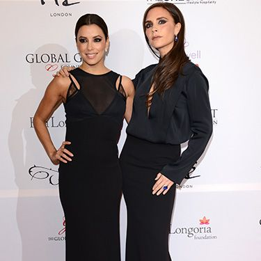 <p>Recently, VB posed on the red carpet with best friend Eva Longoria for a <span>charity event at ME London</span><span>. Of course, Eva wore her BFFs designs for the chic event - in fact, Victoria even Instagrammed a photo of herself personally altering Eva's dress the day before the Global Gift Gala. #fashionablebffs </span><span><br /></span></p>