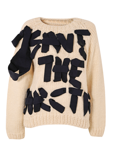 <p>A serious message, delivered in bows. We'd expect no less from our Viv.</p>