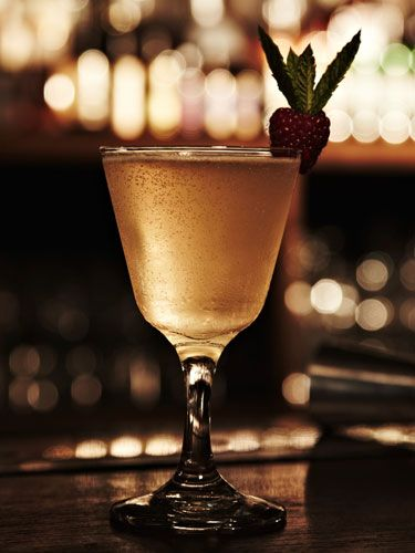 """<p><strong>Ingredients:</strong><br />50 ml of <a href=""""http://www.bootleggerspirit.com"""" target=""""_blank"""">Bootlegger</a><br />30ml Grand Marnier<br />15ml sugar syrup<br />2 dashes of bitters<br />15ml fresh lemon juice<br />Splash of Champagne<br /><strong>    </strong><br /><strong>Method:</strong><br />Place Bootlegger, Grand Marnier, bitters, lemon juice and sugar syrup into cocktail shaker. Vigorously shake the mixture to combine and then strain into a glass. Add the Champagne to float and then garnish the drink with a raspberry.</p>"""
