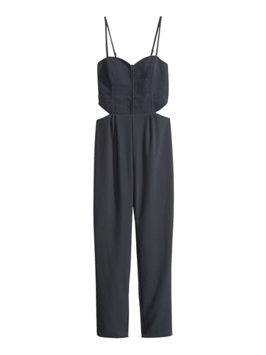 "<p>If you fear a black jumpsuit might be too formal, this H&M style has sexy cut-outs to rev things up a notch. Sky-scraper heels and a swipe of red lippy are all you need to add.</p> <p>Cut-out jumpsuit, £29.99, <a href=""http://www.hm.com/gb/product/21227?article=21227-B"" target=""_blank"">hm.com</a></p> <p><a href=""http://www.cosmopolitan.co.uk/fashion/shopping/cheap-christmas-party-dresses"" target=""_blank"">SHOP PARTY DRESSES FOR £25 OR LESS</a></p> <p><a href=""http://www.cosmopolitan.co.uk/fashion/shopping/christmas-party-best-flat-shoes"" target=""_blank"">12 FABULOUS FLATS TO DANCE ALL NIGHT IN</a></p> <p><a href=""http://www.cosmopolitan.co.uk/fashion/celebrity/"" target=""_blank"">GET CELEBRITY STYLE INSPIRATION</a></p>"