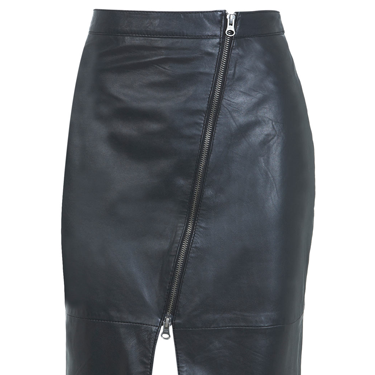 """<p>If you find sequin party dresses too twee, this leather pencil skirt with asymmetric zips is TOTALLY sexual. Pair with a cropped fluffy jumper and fishnets for a Debbie Harry meets (bad) Sandy from Grease sort of look.</p><p>Leather pencil skirt, £80, <a href=""""http://www.missselfridge.com/webapp/wcs/stores/servlet/ProductDisplay?beginIndex=0&viewAllFlag=&catalogId=33055&storeId=12554&productId=12867296&langId=-1&categoryId=&parent_category_rn=&searchTerm=MS26K01NBLK&resultCount=1&geoip=home"""" target=""""_blank"""">missselfridge.com</a></p><p><a href=""""http://www.cosmopolitan.co.uk/fashion/shopping/cheap-christmas-party-dresses"""" target=""""_blank"""">SHOP PARTY DRESSES FOR £25 OR LESS</a></p><p><a href=""""http://www.cosmopolitan.co.uk/fashion/shopping/christmas-party-best-flat-shoes"""" target=""""_blank"""">12 FABULOUS FLATS TO DANCE ALL NIGHT IN</a></p><p><a href=""""http://www.cosmopolitan.co.uk/fashion/celebrity/"""" target=""""_blank"""">GET CELEBRITY STYLE INSPIRATION</a></p>"""