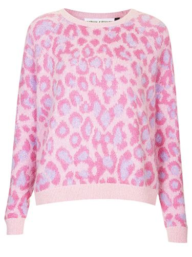 "<p>This jumper is like a trend explosion, featuring leopard print, pastels AND a fluffy texture. Oh and it's Meadham Kirchhoff, don't you know?</p> <p>Angora jumper, £95, <a href=""http://www.topshop.com/webapp/wcs/stores/servlet/ProductDisplay?beginIndex=0&viewAllFlag=&catalogId=33057&storeId=12556&productId=12853775&langId=-1&categoryId=&parent_category_rn=&searchTerm=TS25M20FPNK&resultCount=1&geoip=home"" target=""_blank"">topshop.com</a> </p> <p><a href=""http://www.hm.com/gb/product/18786?article=18786-A"" target=""_blank"">ELLIE GOULDING'S FASHION FORWARD LOOKS</a></p> <p><a href=""http://www.cosmopolitan.co.uk/fashion/shopping/christmas-party-dresses-secret-shapewear"" target=""_blank"">PARTY DRESSES WITH SECRET SHAPEWEAR</a></p> <p><a href=""http://www.cosmopolitan.co.uk/fashion/shopping/christmas-party-best-flat-shoes"" target=""_blank"">12 FABULOUS FLATS</a></p>"