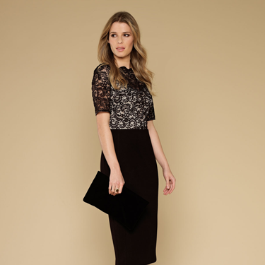 <p>Ooh, we LOVE the sexy secreatry Mad Men-esque vibes of this fancy frock! The stretch jersey midi skirt has been partly lined with a silhouette smoothing slip to put a wiggle - not wibble - in your walk.</p>