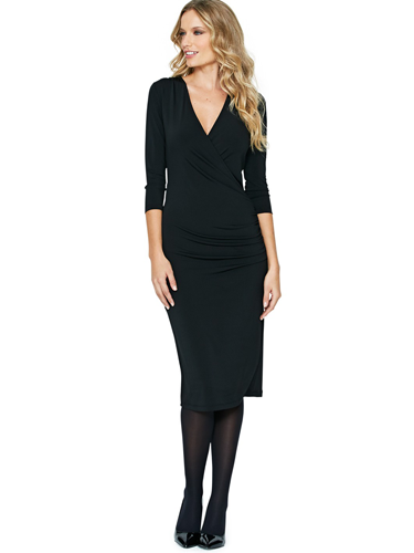 "<p>If in doubt, don a Little Black Dress - and make it a sexy wrap style to flatter your figure. This clever number has a power mesh insert to give you extra support and create a smooth, sleek silhouette. And also - a dress with sleeves! Ideal if you're not confident in exposing your upper arms. The only thing it doesn't do is wrap your Christmas presents for you...</p> <p>Savoir Confident Curves Wrap Dress, £23, <a href=""http://www.very.co.uk/savoir-three-quarter-confident-curves-wrap-dress/1304700248.prd?_requestid=605435"" target=""_blank"">very.co.uk</a></p> <p><a href=""http://www.cosmopolitan.co.uk/fashion/celebrity/how-to-wear-sheer-dress"" target=""_blank"">CELEBS SHOW US HOW TO WEAR SHEER DRESSES</a></p> <p><a href=""http://www.cosmopolitan.co.uk/fashion/shopping/christmas-party-dress-2013-alternatives"" target=""_blank"">BEYOND THE LBD - PARTY DRESS ALTERNATIVES</a></p> <p><a href=""http://www.cosmopolitan.co.uk/fashion/news/"" target=""_blank"">GET THE LATEST FASHION AND STYLE NEWS</a></p>"