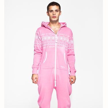 """<p>This unisex adult light pink onesie from the OnePiece collection has the traditional Norwegian knit print design with urban look. <a href=""""http://www.onepiece.co.uk/en-gb/"""" target=""""_blank"""">The OnePiece Lusekofte Onesie</a> comes in light pink and is designed with premium super soft cotton and looks great on both men and women.</p>"""
