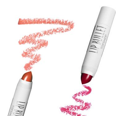 """<p><strong>Beauty Editor Kate Turner says:</strong></p><p>""""Stop the search: the <a href=""""http://www.topshop.com/en/tsuk/category/make-up-431/home"""">Topshop Mini Lip Bullet Duo, £10</a>, includes the perfect party red and creamy nude in cute, twist-up bullets.""""</p>"""
