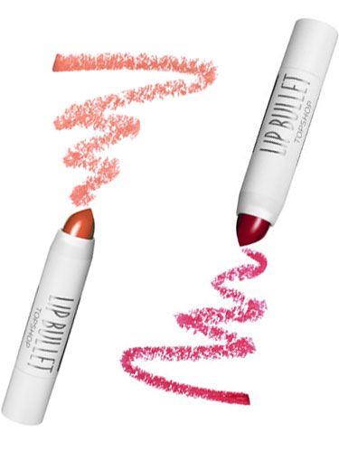 "<p><strong>Beauty Editor Kate Turner says:</strong></p> <p>""Stop the search: the <a href=""http://www.topshop.com/en/tsuk/category/make-up-431/home"">Topshop Mini Lip Bullet Duo, £10</a>, includes the perfect party red and creamy nude in cute, twist-up bullets.""</p>"